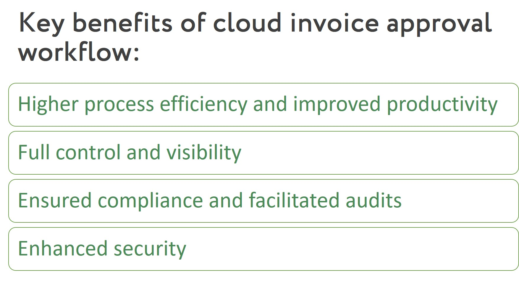 Process for approving invoices