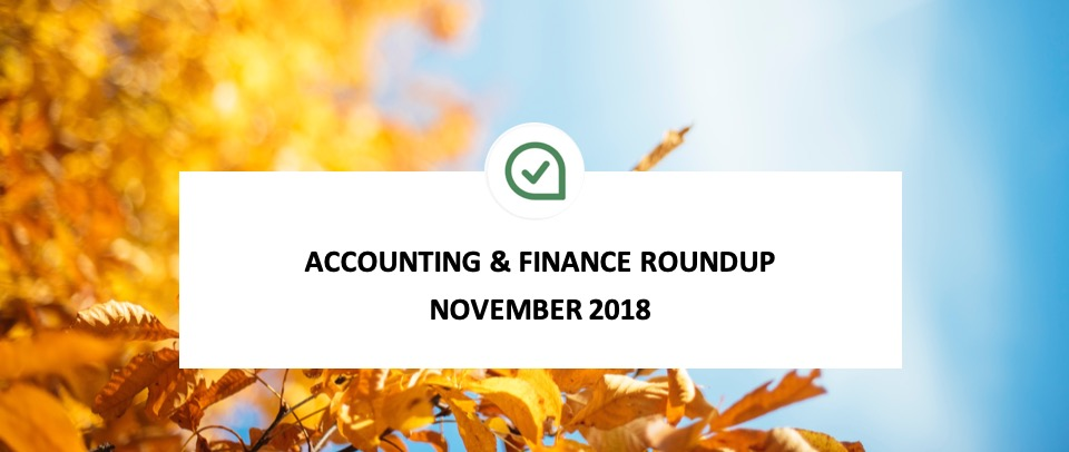 Accounting & Finance Roundup: What did you miss in November?