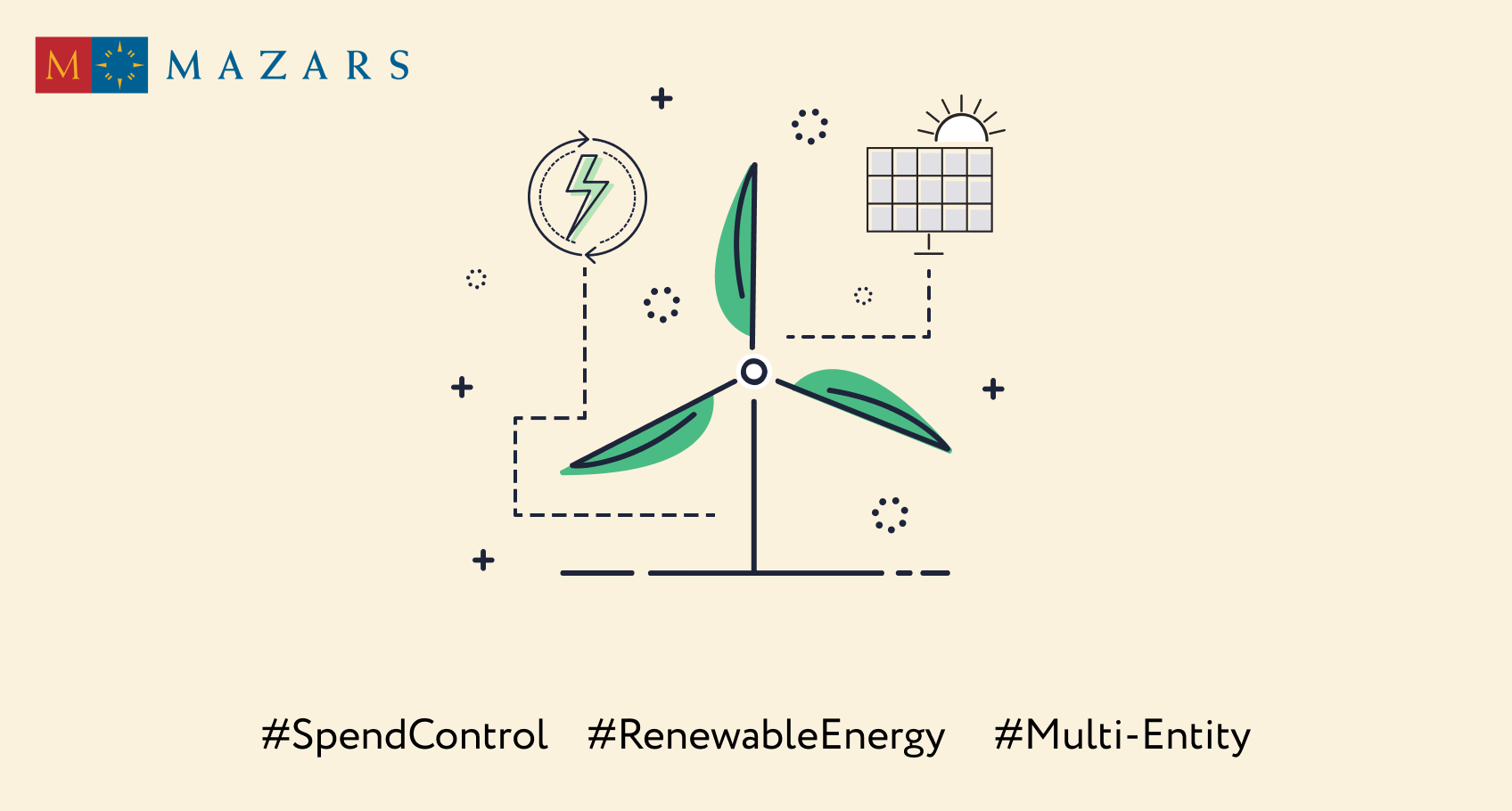 Spend control for a multi-entity company in the renewable energy sector: from construction to operation
