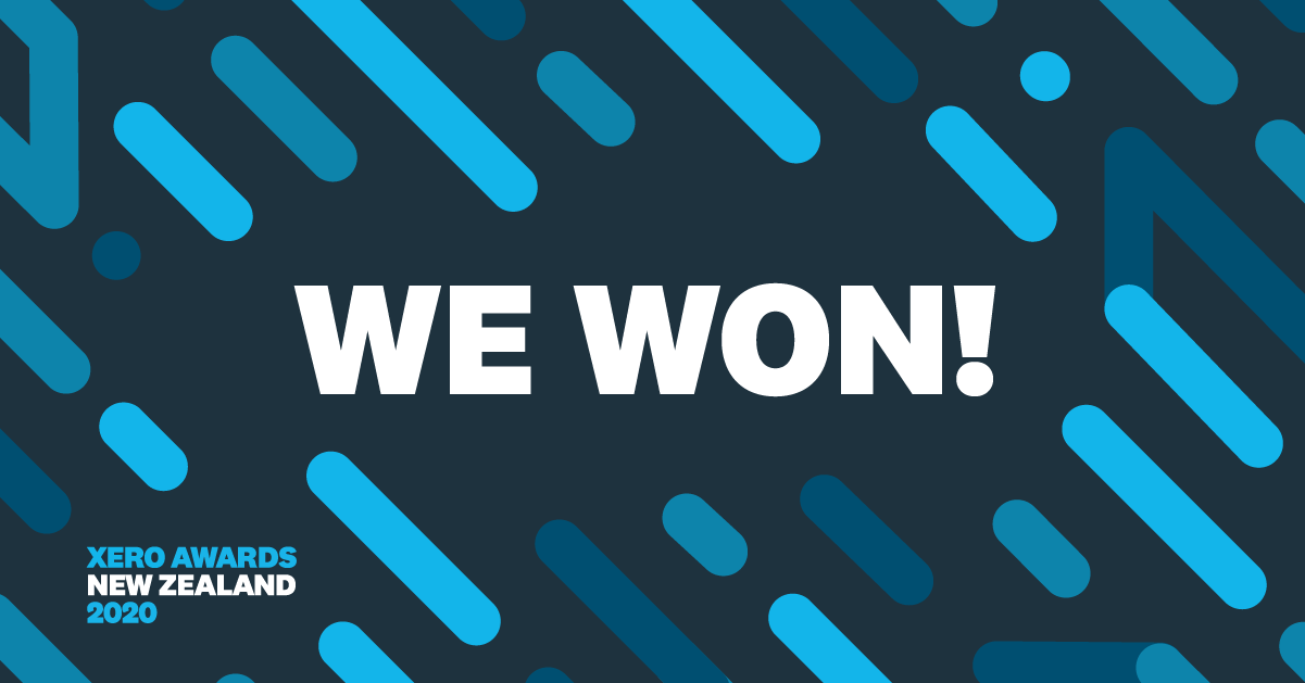 We're a winner of the Xero Awards New Zealand!